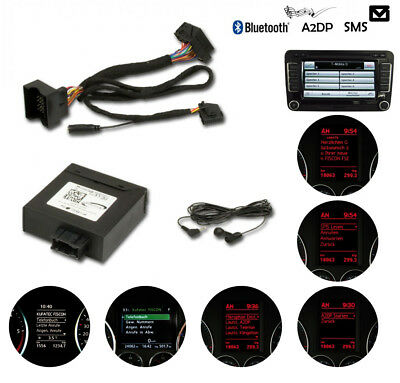 mains libres Kufatec 36496 FISCON Bluetooth pour VW RNS-510/810 RCD-510