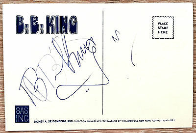 Bb King  Promo Tour Card Europe 1984  Hand Signed  France