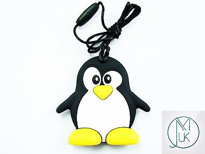 Silicone Baby Teething Necklace Pendant Penguin Mum & Baby Jewellery