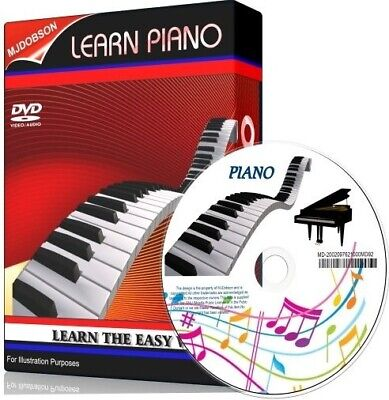 Piano Lessons on dvd tutorial teach Learn how to play ✅ (MD92)