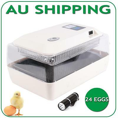 24 Eggs Incubator Closely Monitors Sensitive Climate Automatic Hatch Chicken