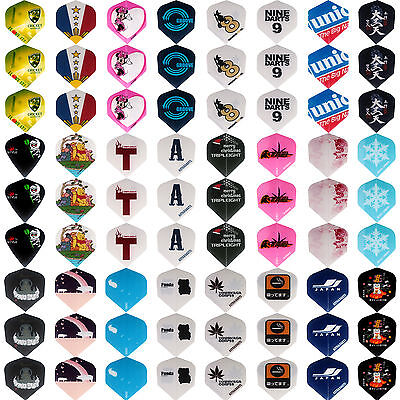 24sets/72 pcs of Dart Flights Various Patterns Darts Feather in Gift Package NEW