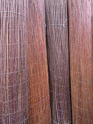 2 x WILLOW MAT PRIVACY WIND PROTECTOR PASTURE Twig fencing 100 300 cm