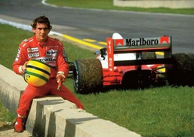 Ayrton Senna Fantastic Colour Wall Poster