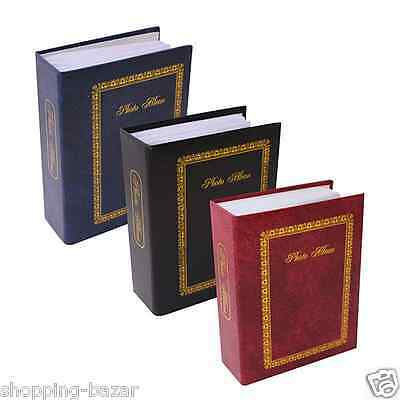 "6"" X 4"" Traditional Photo Album with 100/200 Pockets Black,Burgundy,Blue Tallon"