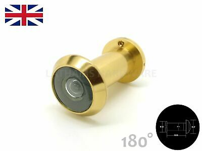 Polished Brass Door Viewer, Spy Hole, Peep, GLASS LENS, 180°, Highest Quality