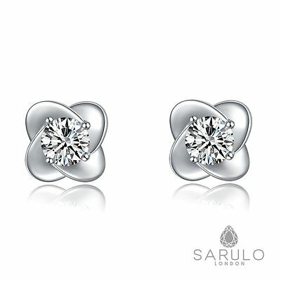 Flower Stud Earrings 925 Sterling Silver Sarulo New Jewelry Fashion Gift Womens