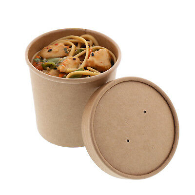 Royal 12 oz. Kraft Paper Soup/Hot/Cold Food Container and Lid Combo, Pack of 250