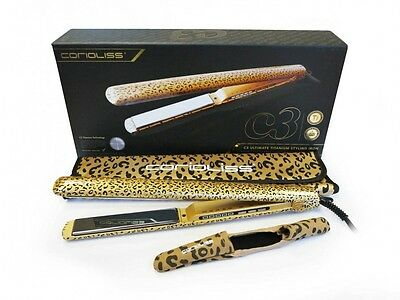 PLANCHA PELO CORIOLISS C3 TITANIO RED & GOLD LEOPARD LINE PROFESIONAL Iron Hair
