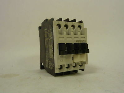Siemens Contactor 1S/1NO 20A 600VAC 3TF3010-0A USED