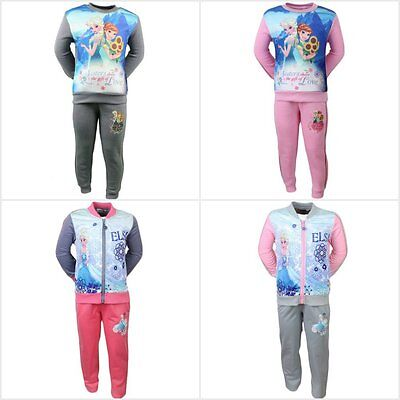 Disney Frozen Tracksuit Jogging Set Outfit Girls Frozen Anna & Elsa Jacket 1-8Y