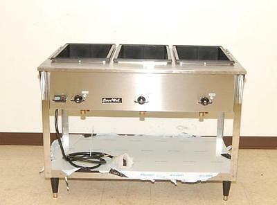 Vollrath ServeWell 3-Bay Electric Steam Table NEW 38213