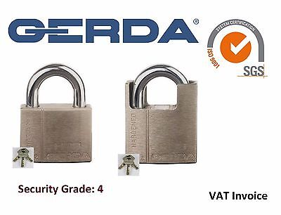 Gerda Heavy Duty Padlock Security Grade: 4 Burglar Proof 3 Keys HSS