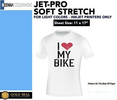 "NEENAH JET-PRO SOFSTRETCH IRON ON INKJET TRANSFER PAPER 11 x 17"" - 10 COUNT"