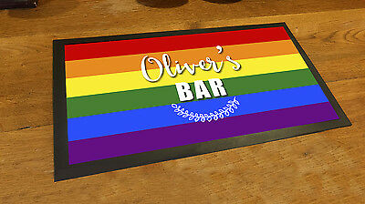 Personalised Rainbow flag gay pride bar runner Pubs & Cocktail Bars