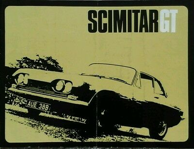 Reliant Scimitar GT  Brochure - 1960s