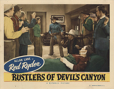 Rustlers of Devil's Canyon 1947 Original Movie Poster Action Adventure