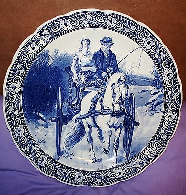 """16"""" DELFT Royal Sphinx Maastricht Wall Plate Holland 15.75 inch diameter"""