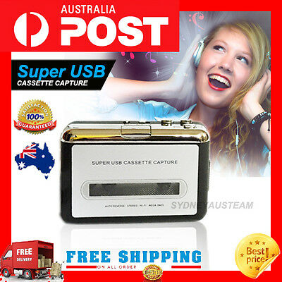 Super USB Cassette-to-MP3 Tape to PC Converter Capture Audio Music Player