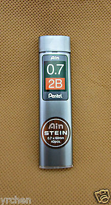 PENTEL Ain STEIN 2B 0.7mm MECHANICAL PENCILL REFILL LEAD (1PACK=40pcs)