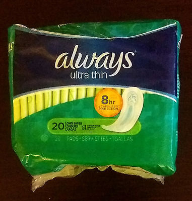 Always 20 Pads Ultra Thin Long Without Wings