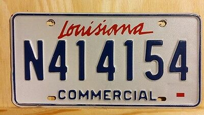 """Classic 2010 Louisiana """"commercial"""" License Plate 154"""