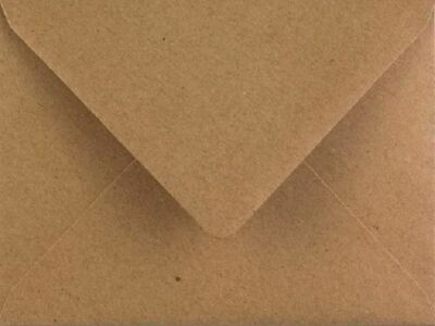 100 x Flecked Kraft Brown Premium C7 Small Mini A7 Card Envelope Blanks (RSVP)