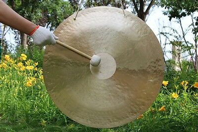 """75cm 30"""" wind gong with mallet Beautiful face & excellent sound"""