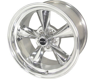 "Ridler 675-5861P0 675 Wheel Polished 15x8"" GM Chev Holden Back Space 0mm"
