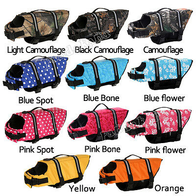 Pet Safety Vest Dog Life Jacket Preserver Puppy XS S M L XL XXL Large Swimming