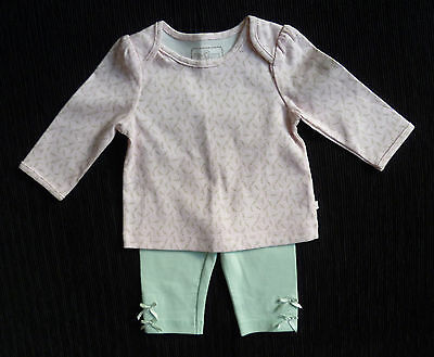 Baby clothes GIRL 0-3m TU pink long sleeve top/aqua bows leggings SEE SHOP!