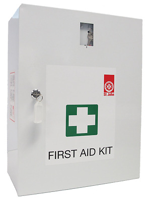 Workplace Wall Mount First Aid, Safety & Medical Kit by St John