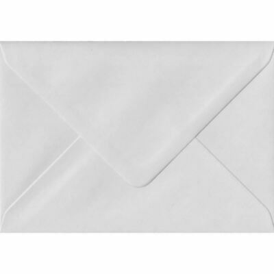 White Heavyweight 152mm x 216mm Gummed 130gsm A5 Greeting Card Envelopes