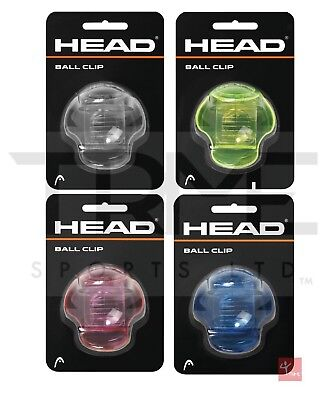 Head Tennis Ball Clip / Holder - Assorted Colours