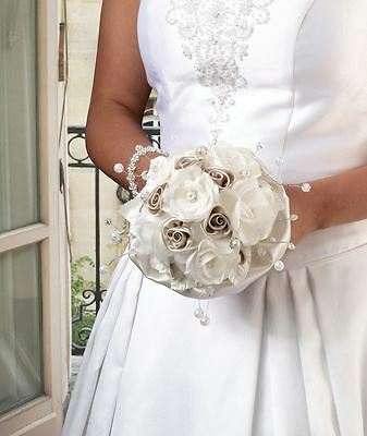 Taupe Rose Wedding Ceremony Bridal Flower Bouquets