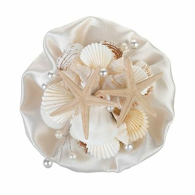 Coastal Sea Shell Wedding Ceremony Bridal Flower Bouquets