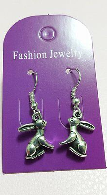 MOON GAZE HARE Rabbit Earrings - Fertility and Abundance - Animal Totem