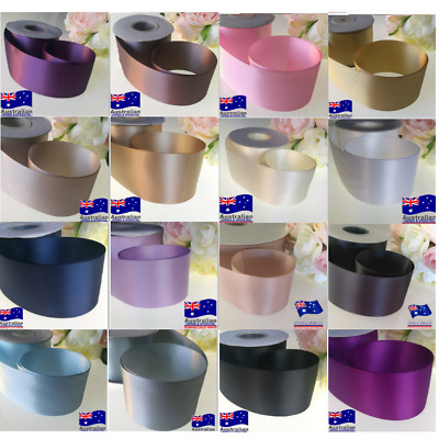 1-5.5 Meter x 50mm   Good Quality Double Side(faced) Satin Ribbon