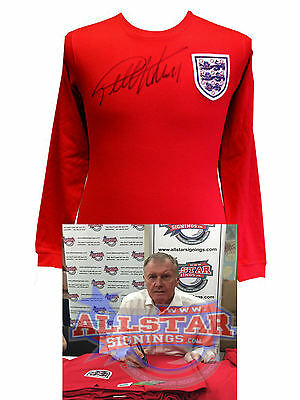 Geoff Hurst Signed 1966 World Cup England Football Shirt See Proof & Coa