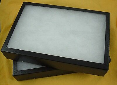 two jewelry display case Riker Mount display box collectors frame 14 X 20 X 2
