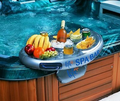 "Inflatable Spa Bar - Floating Hot Tub Side Tray for Drinks and Snacks by ""Life"""