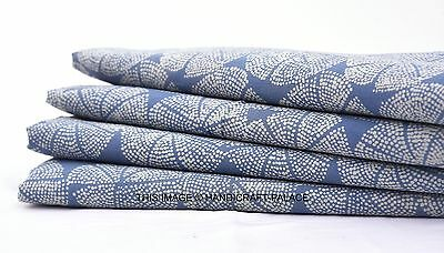 Indian Natural Cotton Hand Block Print Fabric Jaipuri Ethnic Fabric 2.5 Yard