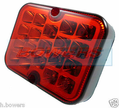 Ring 12V Compact Led Red Rear Fog Lamp Light Ifor Williams Brian James Trailer