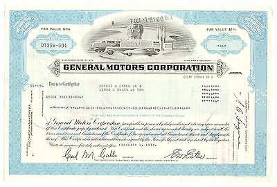 1978 General Motors Corporation, Delaware Stock Certificate,  Automobile Graphic