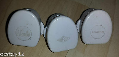 3 Vintage Bakelite Triple Round Pin Plug by Marbo Rare Period Home Fitting