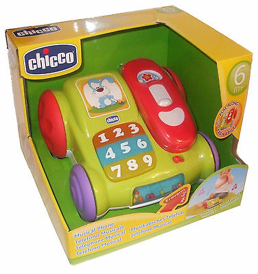 Chicco Musical Phone Musical Pull Along Telephone