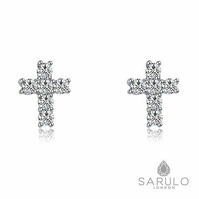 Cross 925 Sterling Silver Sarulo Earrings Jewelry New Fashion Gift Box Womens
