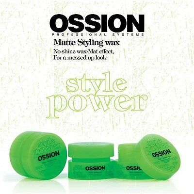 Ossion Style Power Styling Matte Hair Wax
