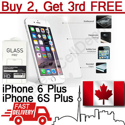 Premium Anti Shatter Tempered Glass Screen Protector for iPhone 6 Plus/6S Plus