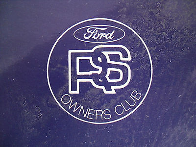 Ford Rs Owners Club 1993 Calender Only